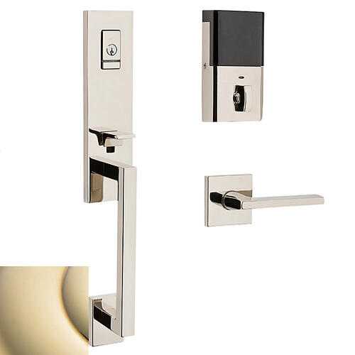 Lifetime Polished Brass Evolved Minneapolis 3/4 Escutcheon Handleset
