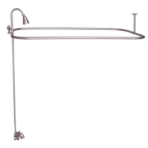 "Rectangular Shower Unit - Brushed Nickel / 48"" x 24"""