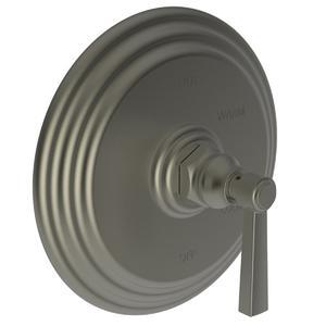 Gun Metal Balanced Pressure Shower Trim Plate with Handle. Less showerhead, arm and flange.