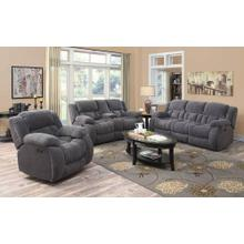 Weissman Grey Three-piece Living Room Set