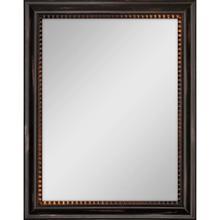 See Details - Dark Wood Finish Mirror