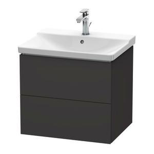 Vanity Unit Wall-mounted, Graphite Super Matte
