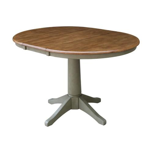 John Thomas Furniture - Round Extension Table in Hickory/Stone