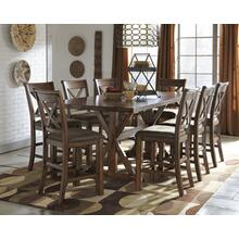 See Details - RECT DRM Counter EXT Table with 4 chairs
