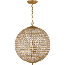AERIN Renwick 4 Light 23 inch Gild Sphere Chandelier Ceiling Light, Large