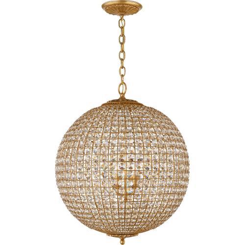 Visual Comfort - AERIN Renwick 4 Light 23 inch Gild Sphere Chandelier Ceiling Light, Large