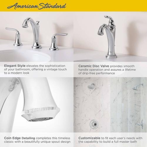 Patience Widespread Bathroom Faucet  American Standard - Polished Nickel