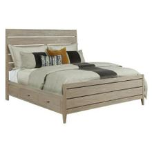 Symmetry Incline King Oak High Bed W/Storage Rails