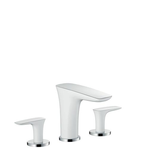 White/chrome Widespread Faucet 110, 1.2 GPM