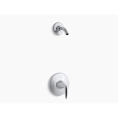 Kohler - Polished Chrome Rite-temp Shower Valve Trim With Lever Handle, Less Showerhead
