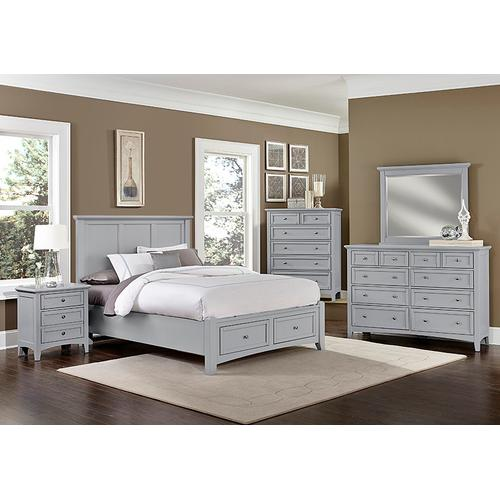 Vaughan-Bassett - Mansion Bed with Storage Footboard Queen & King
