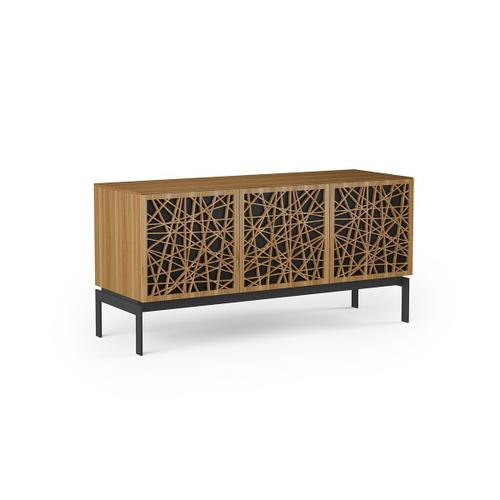 Triple Wide Cabinet W Console Base in Ricochet Doors Natural Walnut
