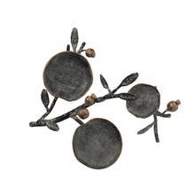 """See Details - 15""""L x 15-1/4""""W x 4-1/4""""H Metal Pillar Holder w/ Cast Iron Pomegranates"""