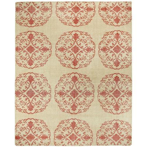 "Vintage-Mandala Red - Rectangle - 3'6"" x 5'6"""