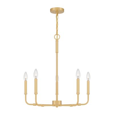 Abner Chandelier in Aged Brass