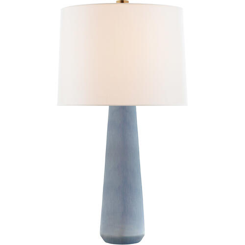 Barbara Barry Athens 33 inch 100 watt Polar Blue Crackle Table Lamp Portable Light, Large