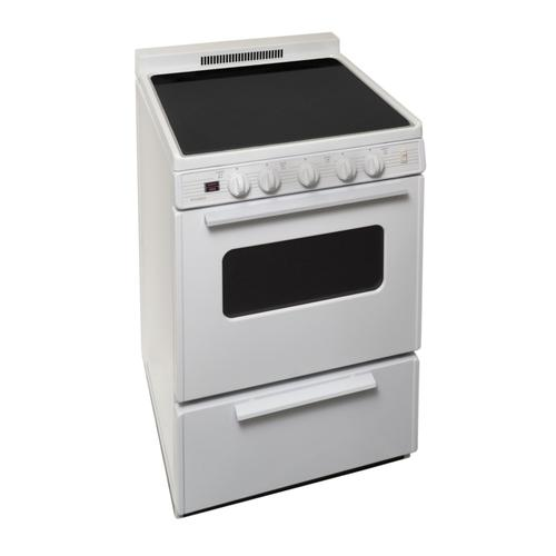 Premier - 24 in. Freestanding Smooth Top Electric Range in White