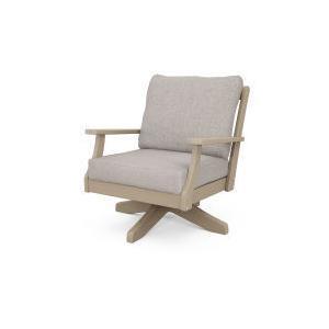 Polywood Furnishings - Braxton Deep Seating Swivel Chair in Vintage Sahara / Weathered Tweed