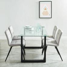 See Details - Franco/Suzette 5pc Dining Set, Black/Grey