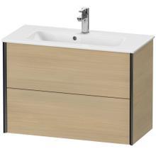 View Product - Vanity Unit Wall-mounted Compact, Mediterranean Oak (real Wood Veneer)
