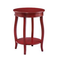 Red Rainbow Round Table With Shelf