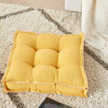 "Outdoor Pillows Qy029 Yellow 18"" X 18"" X 3"" Seat Cushion"