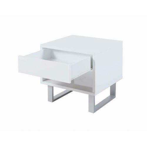 Product Image - Contemporary Glossy White End Table