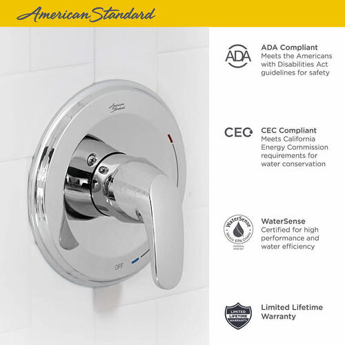 Colony PRO Bath and Shower Trim Kit  American Standard - Polished Chrome