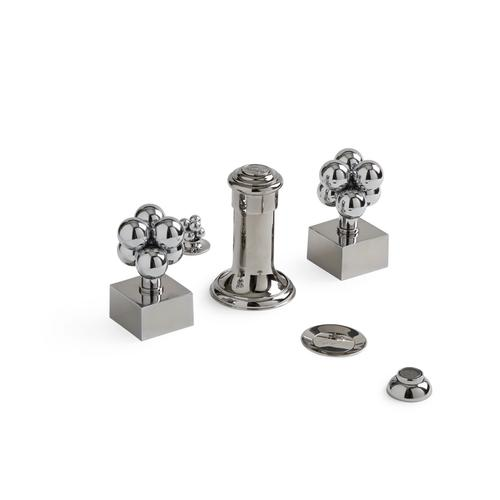 English Silver Molecule Knob Four Hole Bidet