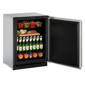 """24"""" Refrigerator With Stainless Solid Finish and Field Reversible Door Swing (115 V/60 Hz Volts /60 Hz Hz)"""