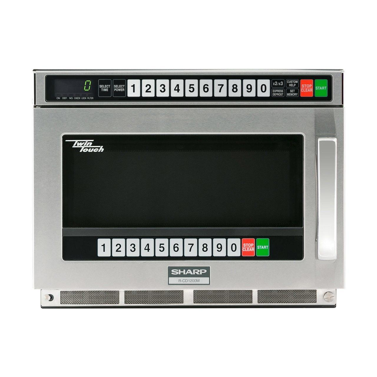 SharpSharp Twintouch 1200 Watt Commercial Microwave Oven With Dual Touchpads