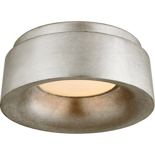 Barbara Barry Halo LED 6 inch Burnished Silver Leaf Flush Mount Ceiling Light, Petite