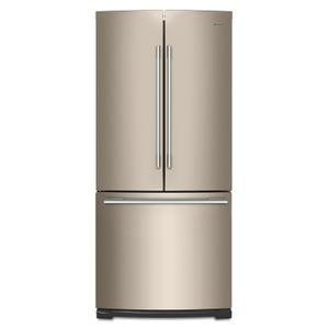 Whirlpool30-inch Wide Contemporary Handle French Door Refrigerator - 20 cu. ft. Fingerprint Resistant Sunset Bronze