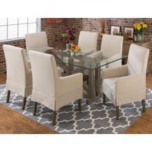 872-147kd Hampton Road Mini Skirt Parson Arm Chair