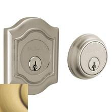 View Product - Satin Brass and Brown Bethpage Deadbolt