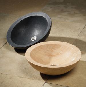 Polished Beveled Rim Sink Carrara Marble Product Image