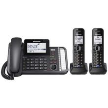 2 -Line Corded/Cordless Expandable Link2Cell Telephone System with 2 Cordless Handsets KX-TG9582B