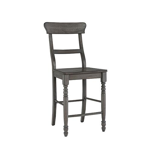 Counter Chair- 2/CTN- Antique Gray - Antique White Finish