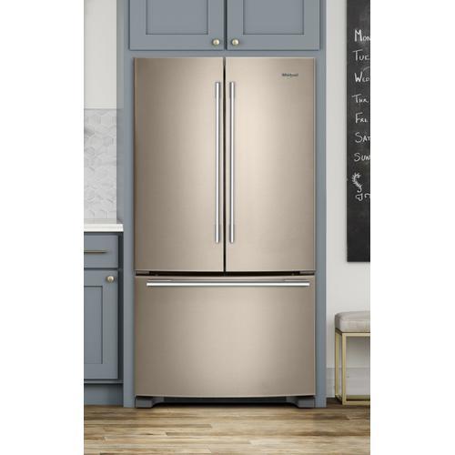 Whirlpool - 33-inch Wide French Door Refrigerator - 22 cu. ft. Fingerprint Resistant Sunset Bronze