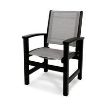 Black & Metallic Coastal Dining Chair