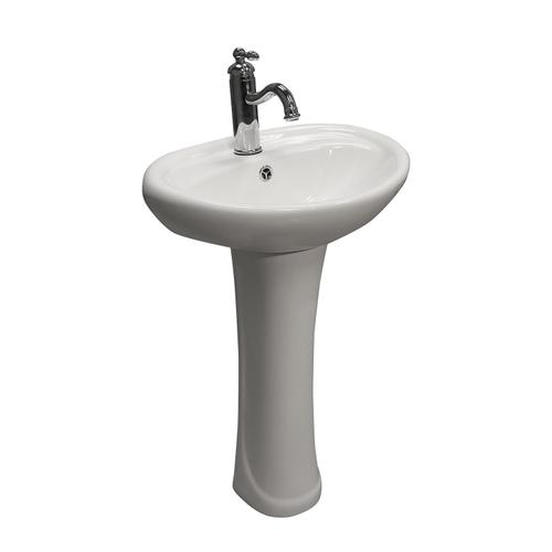 Ashley Pedestal Lavatory - Single-Hole