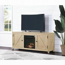 ACME Ciel TV Stand (Optional Fireplace) - 91426 - Farmhouse - Melamine Veneer, Paper Veneer, PB, Ply - Natural