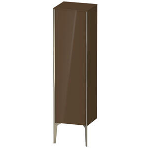 Semi-tall Cabinet Floorstanding, Olive Brown High Gloss (lacquer)