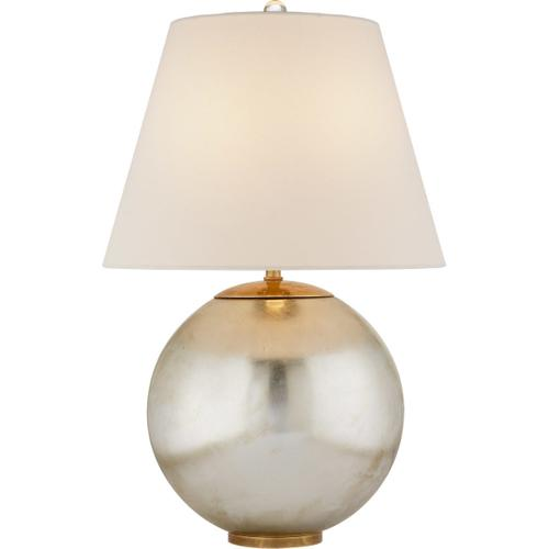 AERIN Morton 25 inch 100 watt Burnished Silver Leaf Table Lamp Portable Light