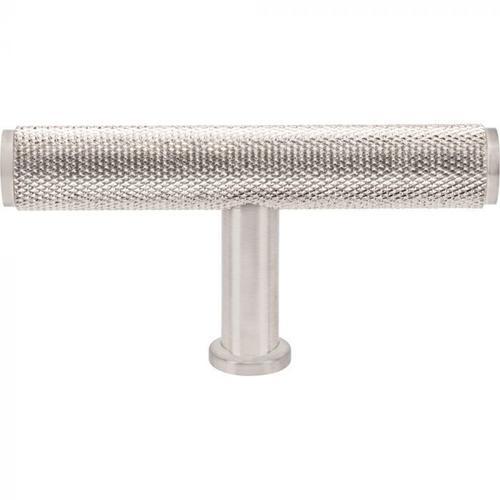 Vesta Fine Hardware - Beliza Knurled T Knob 2 3/4 Inch Brushed Satin Nickel Brushed Satin Nickel
