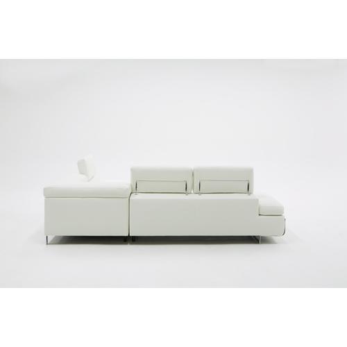 VIG Furniture - Divani Casa Myst Mini - Modern White Eco-Leather Right Facing Sectional Sofa