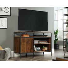 Industrial Metal & Wood TV Stand With Storage