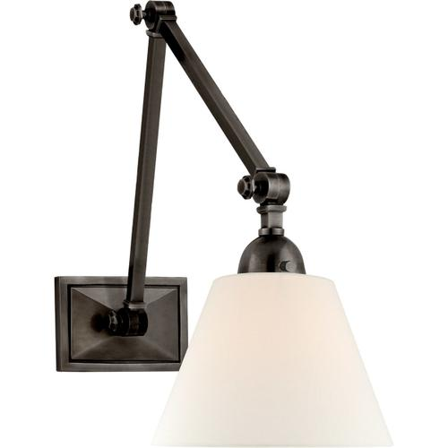 Alexa Hampton Jane 30 inch 40 watt Gun Metal Double Library Wall Light