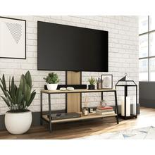 Wood & Metal 2-Shelf TV Stand with Mount