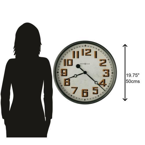 Gallery - Howard Miller Hewitt Oversized Wall Clock 625715